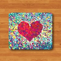 Piece Of Love Color GLASS Fragments Geometric Mouse Pad Love The Day Rubber Hipster Heart Mousepad Work Office Couple Person Gift Valentine