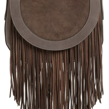 Frye 'Ray' Fringe Leather Saddle Bag | Nordstrom