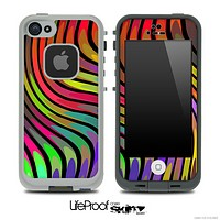 Abstract Color Swirls V2 Skin for the iPhone 5 or 4/4s LifeProof Case
