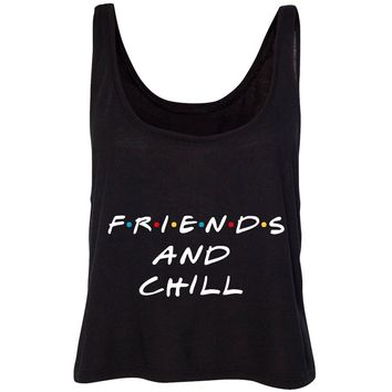 """Friends TV Show / F.R.I.E.N.D.S """"Friends and Chill"""" Cropped Tank Top"""