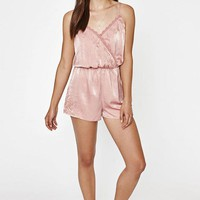 DCCKYB5 Kendall and Kylie Surplice Embroidered Romper