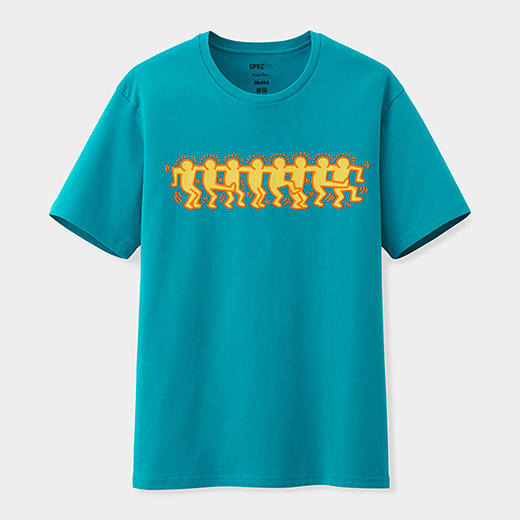Uniqlo keith haring line dancers t shirt from moma design for Uniqlo moma t shirt