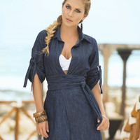 Denim with Sash Sun Dress