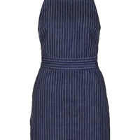MOTO Pinstripe Denim Pini - Dresses - Clothing