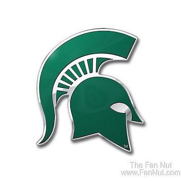 Michigan State Spartans 3D COLOR Chrome Auto Emblem Home Decal University of