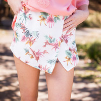 Perfectly Hawaiian Print Skort