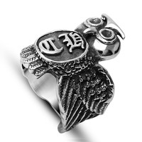 Jewelry Shiny New Arrival Gift Style Accessory Stylish Vintage Owl Titanium A4 Size Ring [6542702979]