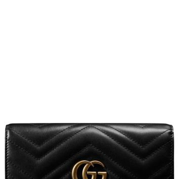 Gucci GG Marmont Matelassé Leather Continental Wallet | Nordstrom