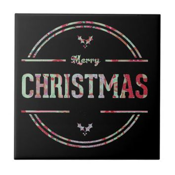 Merry Christmas Greeting Tile
