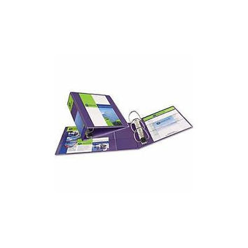 Avery 1-Touch Hvy-Duty Ezd Lock Ring View Binder Ave79339 Soft Purple Set Of 4
