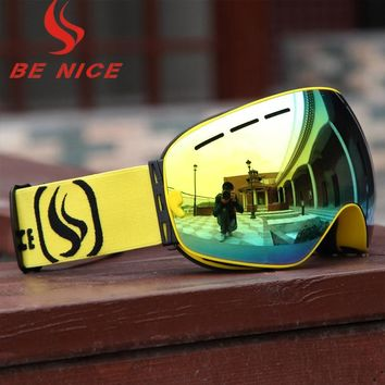 Adult snow ski goggles are suitable for outdoor skiing and sledding exercises to prevent eye injuries UV400   3100