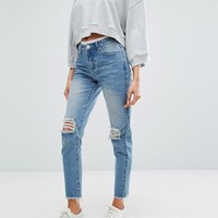 Boohoo High Waisted Mom Jeans at asos.com