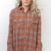 Our Favorite Plaid Flannel {Tan} EXTENDED SIZES