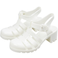 WHITE JELLY SANDALS from dog dog