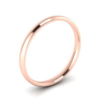 Wedding Band, Solid Gold Wedding Band, 2.00mm 14K Rose Gold Wedding Band, Hand Made Wedding Band, Free Engraving, Promise Ring, 2.00mm