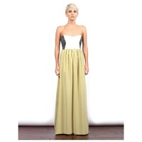 The Colorblocked Leather Silk Maxi