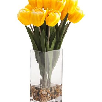 Spring Yellow Tulip Arrangement