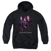 VAMPIRE DIARIES/COMPANY OF THREE-YOUTH PULL-OVER HOODIE - BLACK - MD
