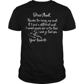 Dear Aunt thanks for being my aunt shirt Guys Tee
