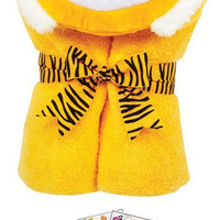 "Tubby Tiger 46041 Soft Hooded Bath Towel 24x50"" Age 0-8 with Coloring Book"