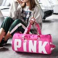 Summer Pink Multi-function Gym Bag Travel Bag for Women