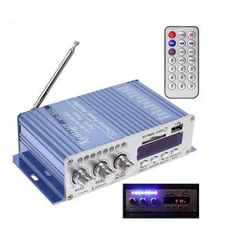 Newest HY-502 2CH Hi-Fi Digital Motorcycle Auto Car Stereo Power Amplifier with Remote Control for Mobile Phone MP3 MP4 PC TF