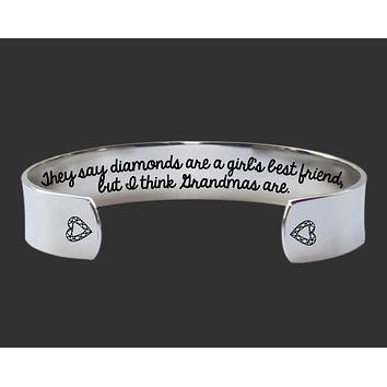 They Say Diamonds Bracelet | Grandma Gift