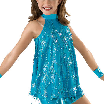 Sequin Fringe Top and Unitard; Weissman Costumes