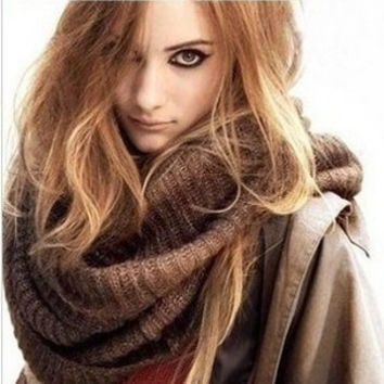 new fashion European and American style thickening women's scarf knitted band wire large collar ladies scarves XY14 = 1958079620