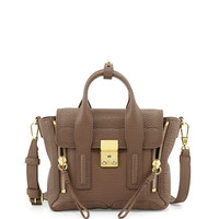 3.1 Phillip Lim Pashli Mini Leather Satchel Bag, Taupe