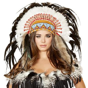 Sexy Indian Girl Feather Head Dress Halloween Accessory