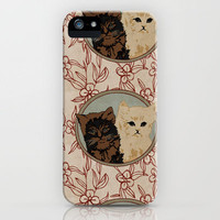Vintage Cats iPhone Case by Charlottelangstroth | Society6