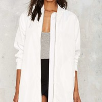 Diggin' On You Maxi Bomber Jacket