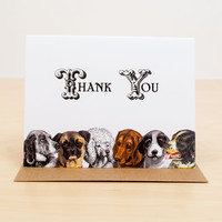 Thank You Dogs Greeting Card
