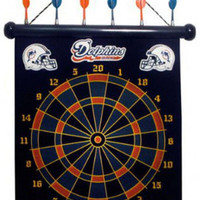 NFL Miami Dolphins Magnetic Dart Board Set