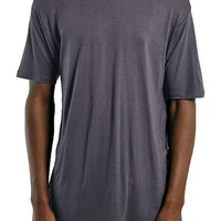 Men's Topman Side Split Longline Crewneck T-Shirt,