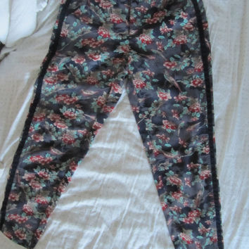 Elevenses Tropical Printed Trousers (Anthropologie)