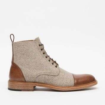 Felt and Leather Two-Tone Boots by Taft