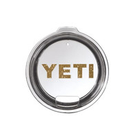 Yeti Lid / Base Decal Yeti Logo for Rambler and Tumbler - Any Color - Glitter - 30oz - 20oz