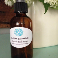 Natural Lavender Eucalyptus Body Spray Mist 4 oz. Glass Spray Bottle Made with essential oils aromatherapy