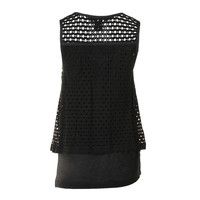 Marc by Marc Jacobs Womens Open Stitch Lined Pullover Top