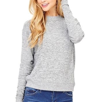 Static Knit Sweater Top