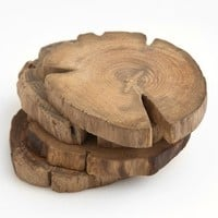 Poketo Teak Wood Coasters