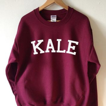 KALE Fashion Casual Long Sleeve Sport Top Sweater Pullover Sweatshirt