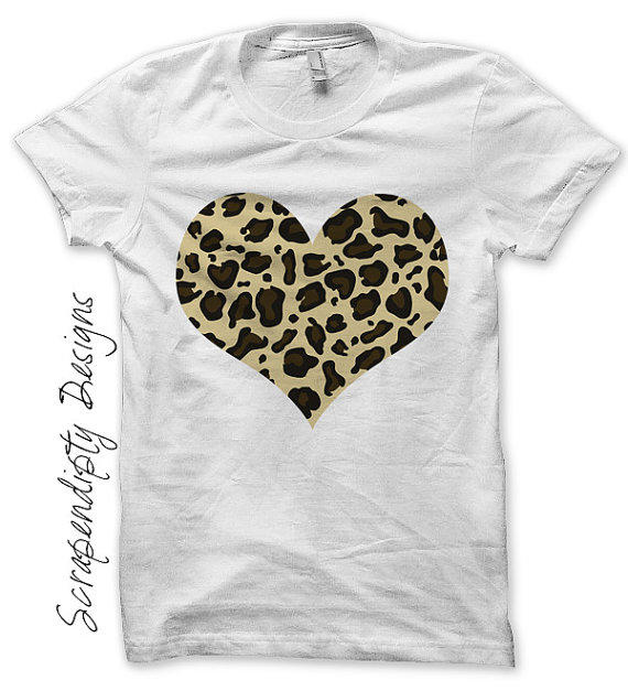 Iron On Leopard Shirt Pdf Girls Heart From