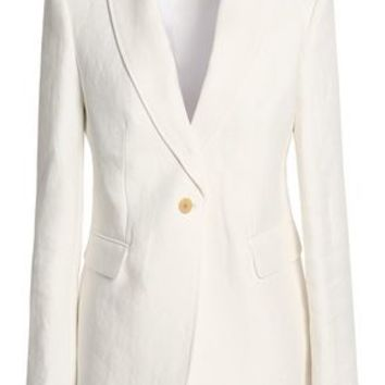 Laurent linen-twill blazer | JOSEPH | Sale up to 70% off | THE OUTNET