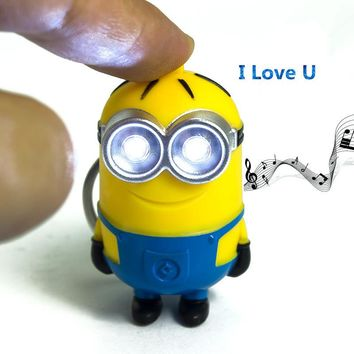 Minions Led Keychain Mini