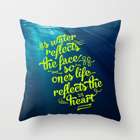 Water Throw Pillow by Pocket Fuel