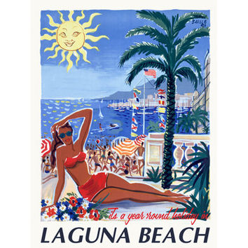 Personalized Laguna Beach Wood Sign