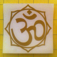 "3rd eye chakras om die-cut decal sticker (3""x3"")"